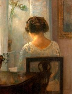 Woman reading in an interior Reading in a sunlit room Young girl reading Woman at a window A mother reading alo...