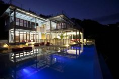 dream home at night