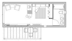 Mobile Home Floor Plans, Cabin Floor Plans, Cottage House Plans, Small House Plans, Cabana, Greek Revival Home, Granny Pod, Shed Building Plans, Assisted Living
