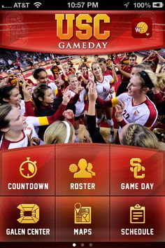 The Gameday App uses stunning retina display graphics.