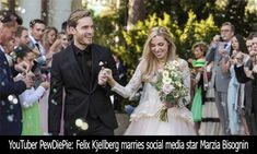 PewDiePie marries Marzia after eight years together After Eight, Free Mp3 Music Download, Youtube Subscribers, Social Media Stars, Pewdiepie, Nicki Minaj, Beautiful Day, Comedians, Picture Video
