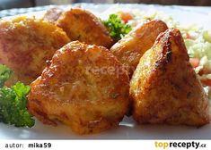 Květák v bramborovo-sýrovém těstíčku recept - TopRecepty.cz Tandoori Chicken, Cauliflower, French Toast, Treats, Vegetables, Breakfast, Ethnic Recipes, Decor, Head Of Cauliflower