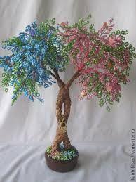 Resultado de imagen para bonsai en chaquiras