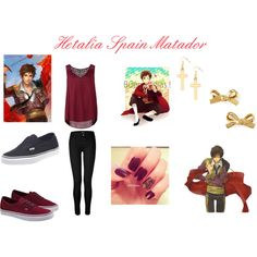 """Hetalia Spain Matador"" by ak-hamilton on Polyvore"