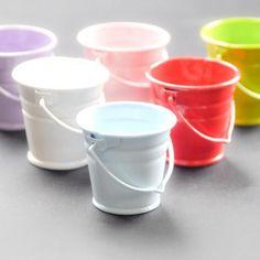 Blue 4 cm metal bucket - Metal Buckets and Pots
