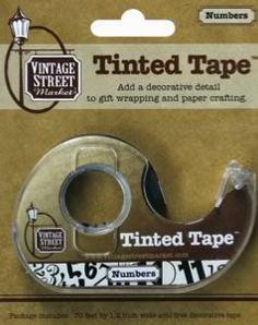 """""""Numbers"""" Tinted Tape - $4.95 - Vintage Street Market"""