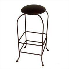 "Grace Designer 24"" Swivel Bar Stool Upholstery: Cimarron Levante, Base Finish: Burnished Copper"