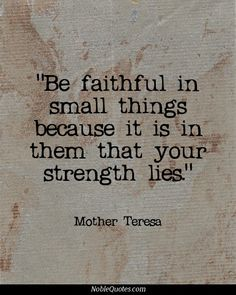 I always love Mother Teresa's beliefs. *If you'd like to learn more about Tarran  Her Company: Our Success Clique 12 Mth Leadership Program is equipping  empowering women leaders. Learn more TODAY at www.corporatecind... or call us 1300 556553. We'd love your company!