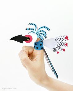 Printable Bird Finger Puppets by Mr Printables