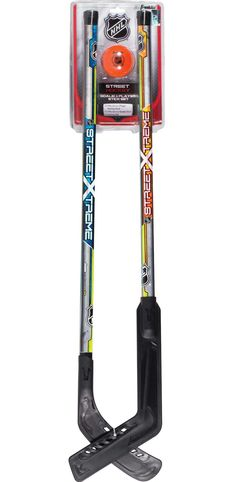 fc7744b7780 Franklin Sports NHL Youth Street Hockey Stick Set