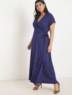 View our Maxi Wrap Dress and shop our selection of plus size designer women's Dresses, plus size clothing and fashionable accessories. Plus Size Fashion For Women, Plus Size Women, Casual Plus Size Outfits, Looks Plus Size, Plus Dresses, Tunic Dresses, Halter Dresses, Long Dresses, Dress Outfits