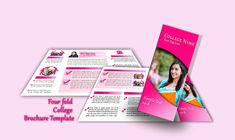 These four-fold brochure templates will help you to promote your business. All are customizable, print-ready & free for personal purpose or commercial use. Psd Templates, Brochure Template, College Brochure, College Names, Design Desk, Promote Your Business, Free, Flyer Template, Booklet Template