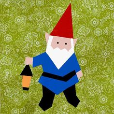 Gnome paper pieced block