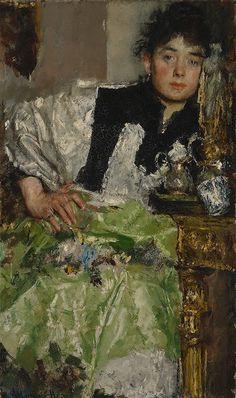 Lost in Thought,  ca 1895-1898,  Antonio Mancini. Italian (1852 - 1930)