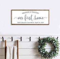 Farmhouse Wall Decor, Farmhouse Signs, Farmhouse Style, Gather Wood Sign, Be Our Guest Sign, First Home Gifts, Scripture Wall Art, Custom Wood Signs, Home Decor Signs
