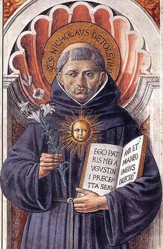 Saint Nicholas of Tolentino pray for us and for babies, boatmen, souls in Purgatory.  Feast day September 10.