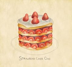 Strawberry Layer Cake by Johannawrites, via Flickr