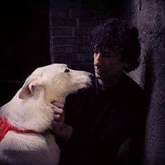 Cabal and Neil Gaiman....I'm still so sad that Cabal is gone. Such a beautiful dog.