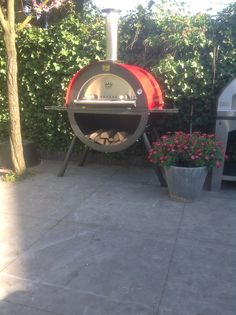 Houtgestookte pizzaoven in rvs Rvs, Gardens, Outdoor Decor, Ideas, Home Decor, Homemade Home Decor, Garden, Thoughts, Decoration Home