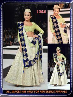 Wedding Bridal ethnic indian long pakistani Bollywood Designer lehenga choli