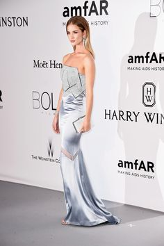 Heidi Klum   Rosie Huntington-Whiteley Stun on amfAR Red Carpet in Cannes!   Photo Heidi Klum and Rosie Huntington-Whiteley make stunning entrances on  the ... b044fea38c07