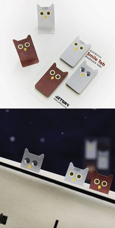 These cute owls are willing to stay awake all day and night to save and mark important pages!