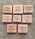 Stampin' Up! 1999 Elegant Greetings - Rubber Stamps – Used – Set of 8 - http://crafts.goshoppins.com/stamping-embossing/stampin-up-1999-elegant-greetings-rubber-stamps-used-set-of-8/