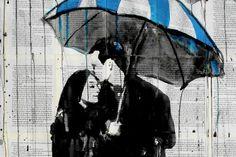 """umbrella blue"" by loui jover"