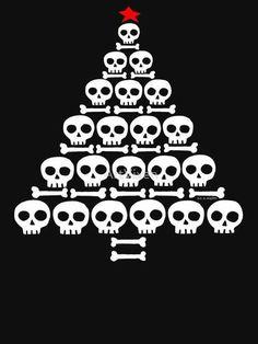 Every day is Halloween Dark Christmas, Halloween Christmas, All Things Christmas, Xmas, Halloween Cards, Dark Fantasy Art, Skull And Bones, Skull Art, Illustrations