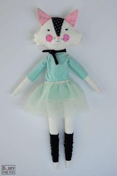 kitty ballerina calla the rosey rag doll by roseyragdoll on Etsy