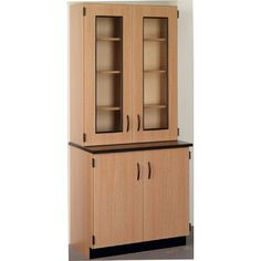 Stevens ID Systems Science 4 Door Storage Cabinet Color: Fashion Grey, Finish: Walnut