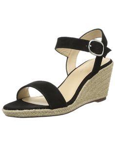 Jonak 356-2049 Vl E5, Sandales compensees femme - Noir (Suede Noir), 40 EU: Amazon.fr: Chaussures et Sacs