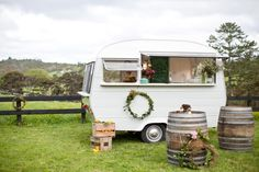 A retro caravan restored as a new mobile bar will be hitting weddings and events this season.