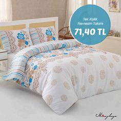 Tek Kişilik Nevresim Takımı -Flores-Mavi V.02 Ürün Fiyatı: 71,40 TL Ürünü İncele: http://www.miraykaya.com/tek-kisilik-nevresim-takimi-flores-mavi-v