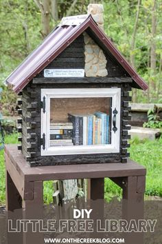 A unique Little Free Library located in Ohio. #sharebooks #littlefreelibraries #littlelibrary #littlefreelibrariesofinstagram #bookstagram #freelittlelibrary #bookbox #LittleFreeLibrary #bookaholic #igbooks #bookworm #reading #booknerd #booklove #ilovereading #instaread #bookish Little Free Libraries, Little Library, Free Library, Rough Cut Lumber, Rural Area, I Love Reading, Metal Roof, Log Homes, Fun Projects
