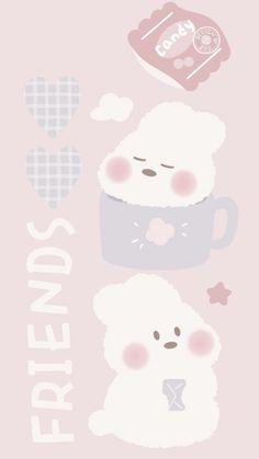 Cute Pastel Wallpaper, Soft Wallpaper, Bear Wallpaper, Cute Patterns Wallpaper, Aesthetic Pastel Wallpaper, Kawaii Wallpaper, Aesthetic Wallpapers, Matching Wallpaper, Cute Wallpaper Backgrounds