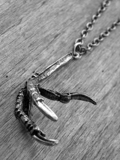 Silver Bird Claw Necklace by Ink & Roses 13
