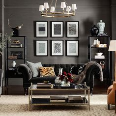 Williams-Sonoma Home's luxury living room furniture collections are expertly designed and constructed. Create a living room that shows off your style and personality. Masculine Living Rooms, Living Room Grey, Living Room Furniture, Home Furniture, Furniture Design, Antique Furniture, Furniture Makeover, Wooden Furniture, Outdoor Furniture