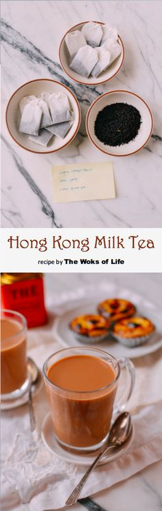 Hong Kong Milk Tea recipe by the Woks of Life - Crockpot-Recipe Milk Tea Recipes, Dessert Recipes, Potluck Recipes, Hong Kong Milk Tea Recipe, Jai Faim, Wok Of Life, Authentic Chinese Recipes, Asian Desserts, Indian Food Recipes