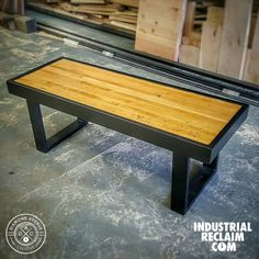 Just finished this steel & reclaimed bowling alley bench-coffee table! Come check out our builds in person this weekend @randolphmarket  IndustrialReclaim.com  #reclaimed #repurposed #industrialfurniture #modernfurniture #design #art #handmade #decor #vintage #vintageindustrial #industrial #artofchi #creative #steel #metal #metalwork #welding #industrialdesign #interiordesigner #interiordesign #modern #moderndesign #modernindustrial #chicago #Chicagoart #insta_chicago #chicagogram