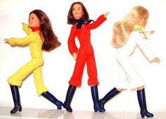My Charlies Angel dolls. Loved them, but they were shorter than barbie dolls. Like Skipper size. Barbie Dream, Barbie Clothes, Barbie Dolls, Barbie Stuff, Childhood Toys, Childhood Memories, Cheryl Ladd, Vintage Barbie, Vintage Toys