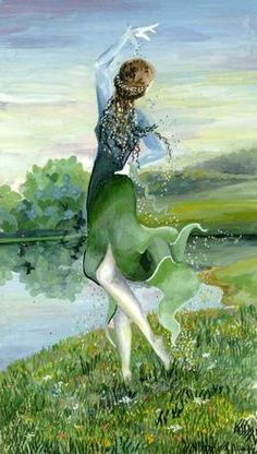 Nessa, the Dancer by Olga Kukhtencova - wife of Tulkas and is noted for her agility and speed