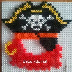 DECO.KDO.NAT: Perles hama: mini cadre photo pirate