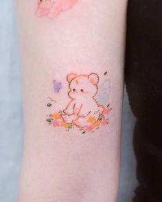 Mini Tattoos, Body Art Tattoos, Small Tattoos, Tatoos, Classy Tattoos, Pretty Tattoos, Anime Tattoos, Kawaii Tattoos, Small Colorful Tattoos