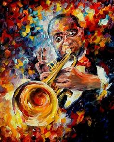 Louis Armstrong by Leonida Fremov