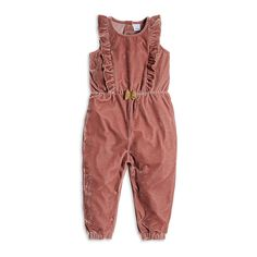 Jumpsuit i fløyel Velvet Jumpsuit, Pink Jumpsuit, Kid Styles, Forever Young, Kids Wear, Girl Fashion, Rompers, How To Wear, Girl Style