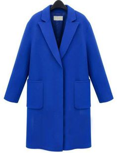Shop Royal Blue Lapel Pockets Woolen Coat online. SheIn offers Royal Blue Lapel Pockets Woolen Coat & more to fit your fashionable needs.