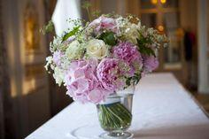 hortensia, pivoine, rose