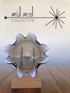 Smoky glass Art bowl. Available now at Mid Mod Collective. Email midmodcollective@gmail.com for more info.