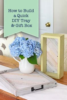 How to Build a Quick DIY Tray & Gift Box | Pretty Handy Girl Small Wood Projects, Scrap Wood Projects, Cool Woodworking Projects, Cool Diy Projects, Green Woodworking, Japanese Woodworking, Popular Woodworking, Crafty Projects, Project Ideas